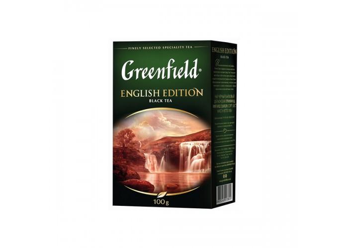 "ЧАЙ ЧОРНИЙ ENGLISH EDITION 100г ТМ""GREENFIELD"""