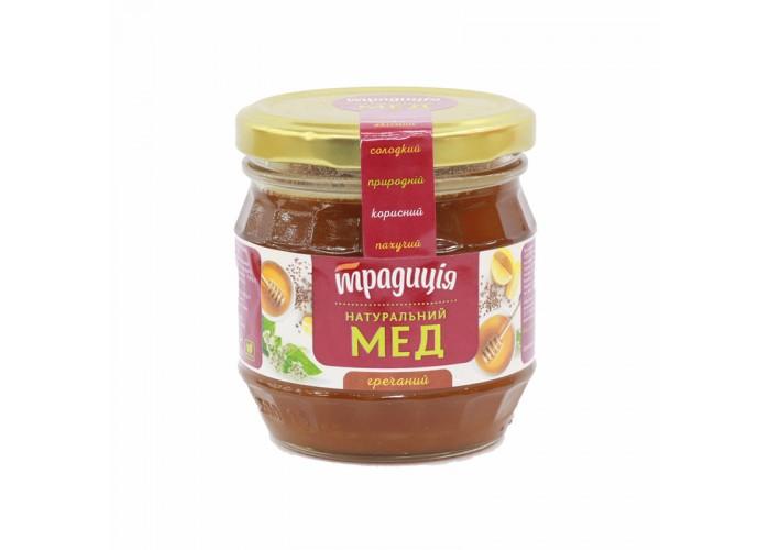"""МЕД НАТУРАЛЬНИЙ ГРЕЧАНИЙ 250г ТМ""""ТрадицIя"""""""