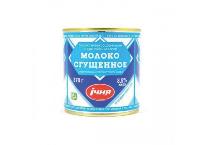 """МОЛОКО ЗГУЩЕНЕ ДСТУ 370г ТМ""""Ічня"""""""