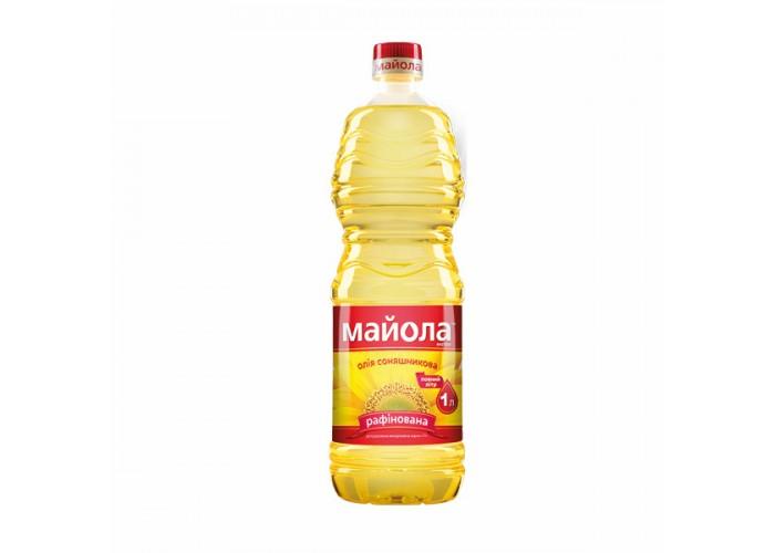 """ОЛІЯ СОНЯШНИКОВА НЕРАФІНОВАНА 0,85Л ТМ """"МАЙОЛА"""""""